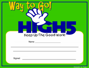 high-five-certificate