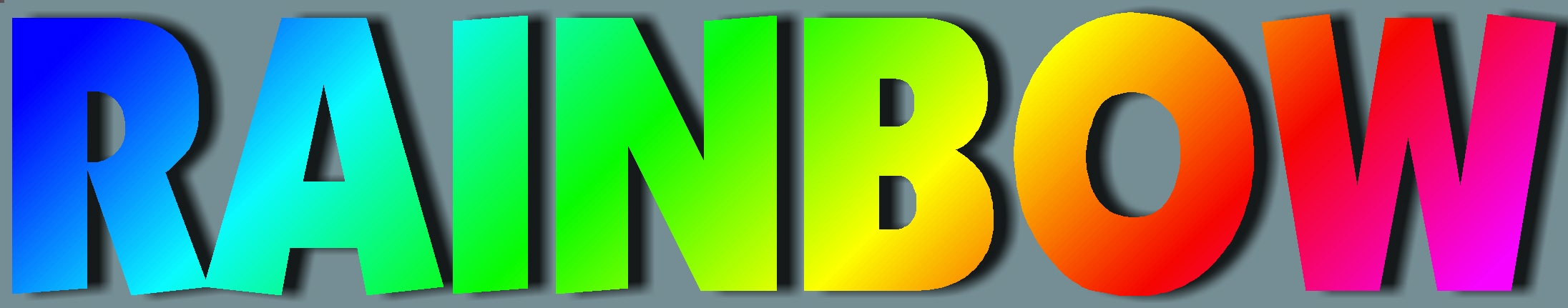 be a rainbow bulletin board