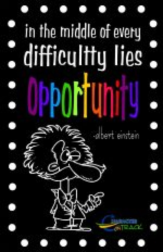 In difficulty lies opportunity