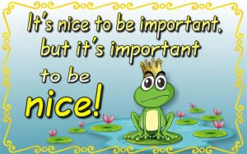 It's Important to be Nice
