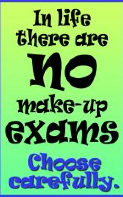 No make-up exams