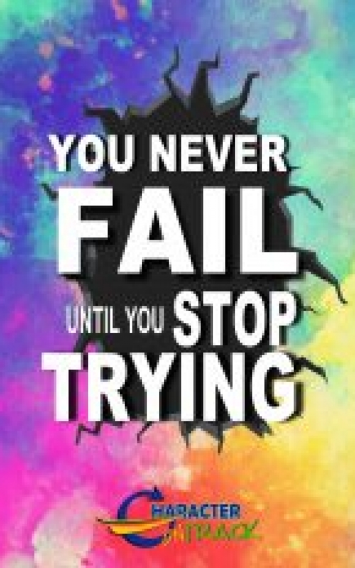 You Never Fail Until